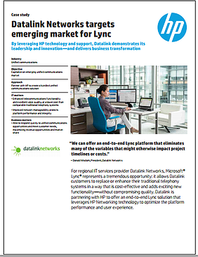 Southern California-based Datalink Networks and Microsoft Lync